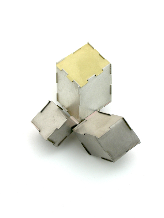 'Three cubed slants' brooch, 2006