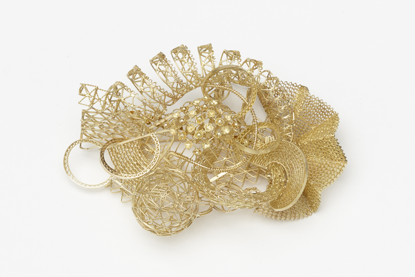 Kosmos no.3 Brooch 2013 Gold 127 gms 90H x 130W x 50D Insurance value €5,000 Sale Price: €16,000